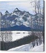 Winter Tetons Canvas Print