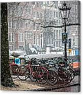 Winter Time In Amsterdam Canvas Print