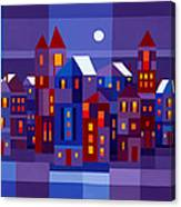 Winter Town Canvas Print