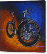 Winter Track Bicycle Canvas Print