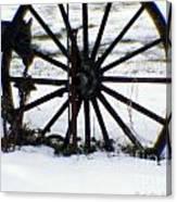 Winter Wagon Wheel Canvas Print
