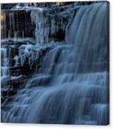 Winter Waterfall Canvas Print