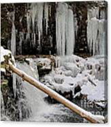 Winter Waterfall Canvas Print