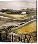 Winter Wheat Canvas Print