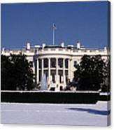 Winter White House  Canvas Print