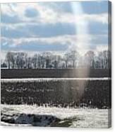 Winter White Rainbow Canvas Print