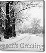 Winter White Season's Greeting Card Canvas Print