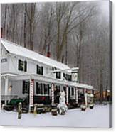 Winter Wonderland At The Valley Green Inn Canvas Print