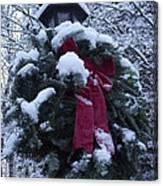 Winter Wreath Canvas Print