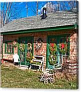 Winterberry Farm Stand Canvas Print