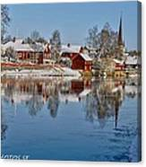 Winterday In Arboga  Canvas Print