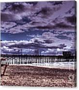 Winters Beach Solitude Canvas Print