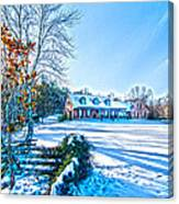 Winters Day Photo Art From The Fence Canvas Print