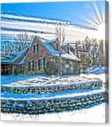 Winters Day Photoart 6 Canvas Print