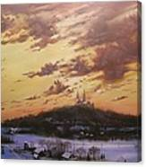 Winter's Eve At Holy Hill Canvas Print