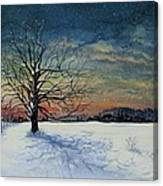 Winters Eve Canvas Print
