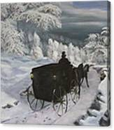 Winters Journey Canvas Print