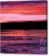 Winter's Sunset Canvas Print