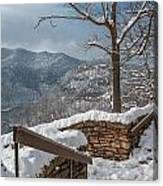 Wintertime At Hawks Nest  Canvas Print