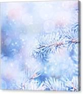 Wintertime Background Canvas Print
