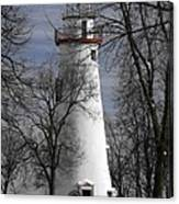 Wintry Lighthouse Canvas Print