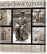 Wip - Fdr Memorial - Washington Dc Canvas Print