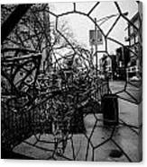 Wire Man In Sphere Canvas Print