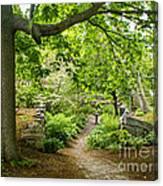 Wiscasset Sunken Garden Canvas Print