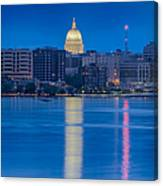 Wisconsin Capitol Reflection Canvas Print