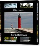 Wisconsin For All Seasons Canvas Print