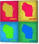 Wisconsin Pop Art Map 1 Canvas Print