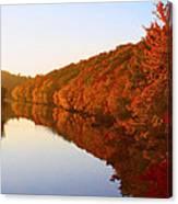 Wisconsin River Sunrise Canvas Print