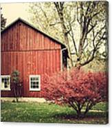 Wise Old Barn Summertime Canvas Print