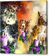 Wishing You A Blessed Advent Canvas Print