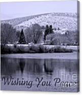 Wishing You Peace - Greeting Card Canvas Print