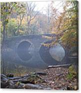 Wissahickon Creek And Bells Mill Road Bridge Canvas Print