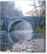 Wissahickon Creek And Valley Green Bridge Canvas Print
