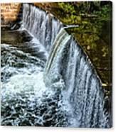 Wissahickon Dam At Ridge Avenue - Side View Canvas Print