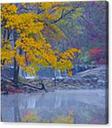 Wissahickon Morning In Autumn Canvas Print