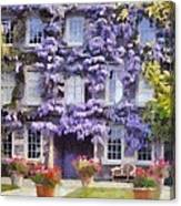 Wisteria Covered House Canvas Print