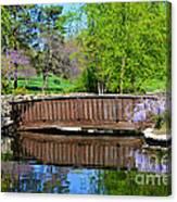Wisteria In Bloom At Loose Park Bridge Canvas Print