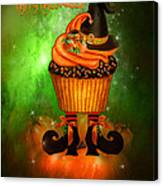 Witch Cupcake 4  Canvas Print