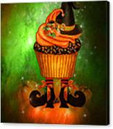 Witch Cupcake 6 Canvas Print