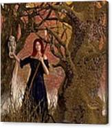 Witch Of The Autumn Forest  Canvas Print