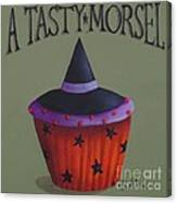 Witches Hat Tasty Morsel Cupcake Canvas Print