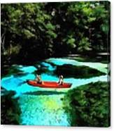 With A Paddle Canvas Print