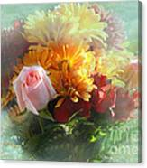 With Love Flower Bouquet Canvas Print