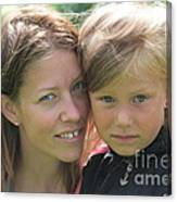 With Mother - Sweden. Canvas Print