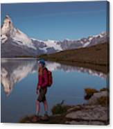 With The Matterhorn In The Background Canvas Print