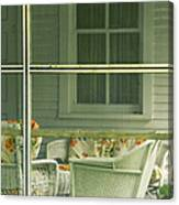 Within The Screened Porch Canvas Print
